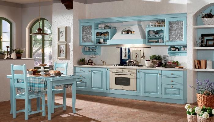 Parete Colorata In Cucina